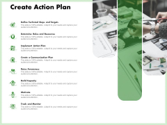 Eco Friendly And Feasibility Management Create Action Plan Information PDF