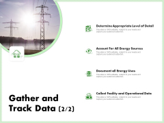 Eco Friendly And Feasibility Management Gather And Track Data Appropriate Sample PDF
