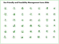 Eco Friendly And Feasibility Management Icons Slide Sample PDF