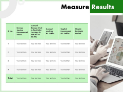 Eco Friendly And Feasibility Management Measure Results Elements PDF