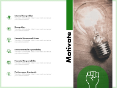 Eco Friendly And Feasibility Management Motivate Mockup PDF