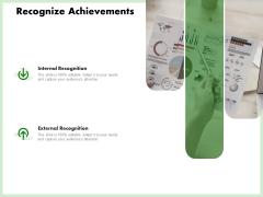 Eco Friendly And Feasibility Management Recognize Achievements Brochure PDF