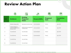 Eco Friendly And Feasibility Management Review Action Plan Diagrams PDF
