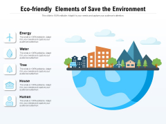 Eco Friendly Elements Of Save The Environment Ppt PowerPoint Presentation File Graphics Template PDF