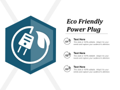Eco Friendly Power Plug Ppt PowerPoint Presentation Inspiration Grid