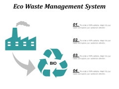 Eco Waste Management System Ppt PowerPoint Presentation Slides