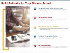 Ecommerce And SEO Plan Checklist Build Authority For Your Site And Brand Microsoft PDF