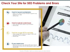 Ecommerce And SEO Plan Checklist Check Your Site For SEO Problems And Errors Microsoft PDF