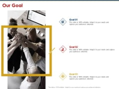 Ecommerce And SEO Plan Checklist Our Goal Ppt Portfolio Elements PDF