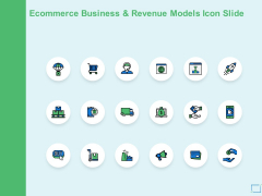 Ecommerce Business And Revenue Models Icon Slide Social Ppt PowerPoint Presentation Layouts Example