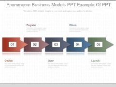 Ecommerce Business Models Ppt Example Of Ppt
