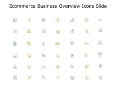 Ecommerce Business Overview Icons Slide Opportunity Ppt PowerPoint Presentation Pictures Templates