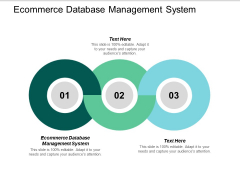 Ecommerce Database Management System Ppt PowerPoint Presentation Inspiration Outfit Cpb