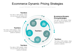 Ecommerce Dynamic Pricing Strategies Ppt PowerPoint Presentation Slides Good Cpb
