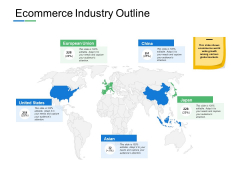 Ecommerce Industry Outline Country Map Ppt PowerPoint Presentation Gallery Layout Ideas