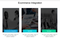 Ecommerce Integration Ppt PowerPoint Presentation Styles Visual Aids Cpb