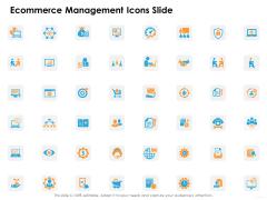 Ecommerce Management Icons Slide Ppt Infographics Gridlines PDF