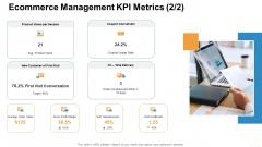 Ecommerce Management KPI Metrics Conversion Ppt Gallery Vector PDF