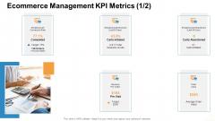 Ecommerce Management KPI Metrics Target Ppt Summary Sample PDF