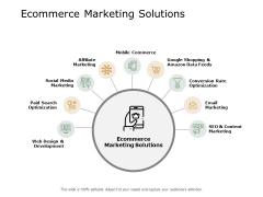 Ecommerce Marketing Solutions Ppt PowerPoint Presentation Portfolio Show