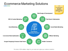 Ecommerce Marketing Solutions Web Design Ppt PowerPoint Presentation Inspiration Example
