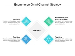 Ecommerce Omni Channel Strategy Ppt PowerPoint Presentation Outline Icons Cpb