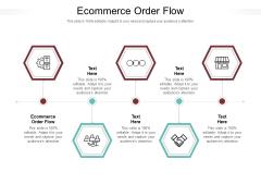 Ecommerce Order Flow Ppt PowerPoint Presentation Ideas Example Topics Cpb Pdf