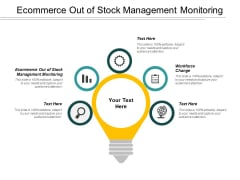 Ecommerce Out Of Stock Management Monitoring Workforce Change Ppt PowerPoint Presentation Layouts Design Templates