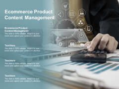 Ecommerce Product Content Management Ppt PowerPoint Presentation Inspiration Guide Cpb