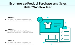 Ecommerce Product Purchase And Sales Order Workflow Icon Ppt PowerPoint Presentation Styles Summary PDF