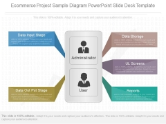 Ecommerce Project Sample Diagram Powerpoint Slide Deck Template