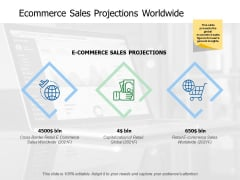 Ecommerce Sales Projections Worldwide Ppt PowerPoint Presentation Infographic Template Smartart
