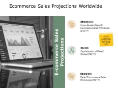 Ecommerce Sales Projections Worldwide Ppt PowerPoint Presentation Show Rules