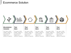 Ecommerce Solution Ppt PowerPoint Presentation Ideas Graphics Download Cpb