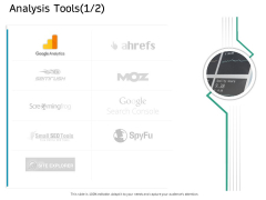 Ecommerce Solution Providers Analysis Tools Method Ppt Icon Layout PDF