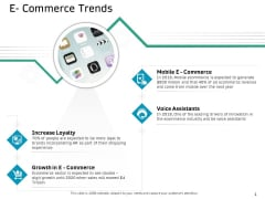 Ecommerce Solution Providers E Commerce Trends Ppt Show Good PDF