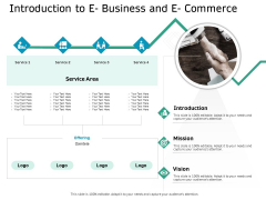 Ecommerce Solution Providers Introduction To E Business And E Commerce Ppt File Example Introduction PDF