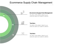 Ecommerce Supply Chain Management Ppt PowerPoint Presentation Sample Cpb