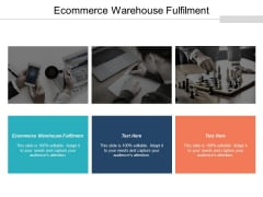 Ecommerce Warehouse Fulfilment Ppt PowerPoint Presentation Pictures Aids Cpb