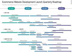 Ecommerce Website Development Launch Quarterly Roadmap Background