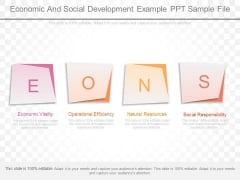 Economic And Social Development Example Ppt Sample File