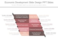 Economic Development Slide Design Ppt Slides