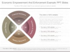 Economic Empowerment And Enforcement Example Ppt Slides