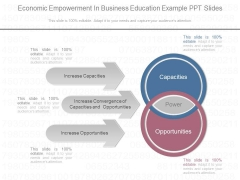 Economic Empowerment In Business Education Example Ppt Slides