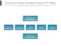 Economic Factors Incumbent Expert Ppt Slides