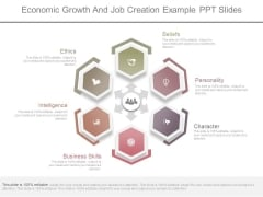 Economic Growth And Job Creation Example Ppt Slides