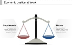 Economic Justice At Work Ppt PowerPoint Presentation Gallery Professional