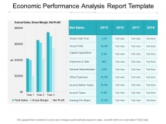 Economic Performance Analysis Report Template Ppt PowerPoint Presentation Infographic Template Portrait