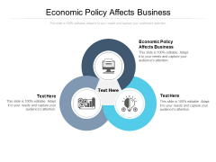Economic Policy Affects Business Ppt PowerPoint Presentation Ideas Gallery Cpb