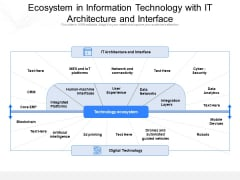 Ecosystem In Information Technology With IT Architecture And Interface Ppt PowerPoint Presentation File Slides PDF